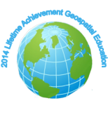 2014 Lifetime Achievement Geospatial Education logo.