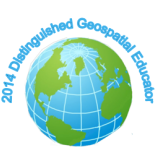 2014 Distinguished Geospatial Educator logo.